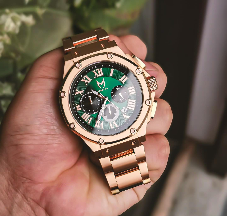 Rose Gold & Green