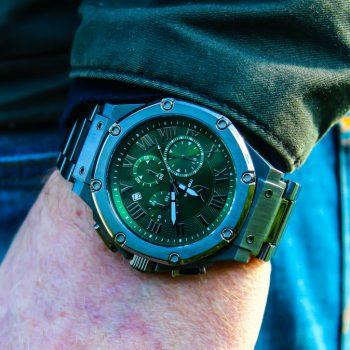 Titanium Grey & Green