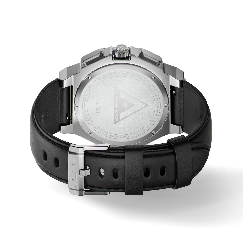 Polished Titanium - Leather