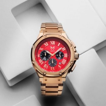 Rose Gold & Red