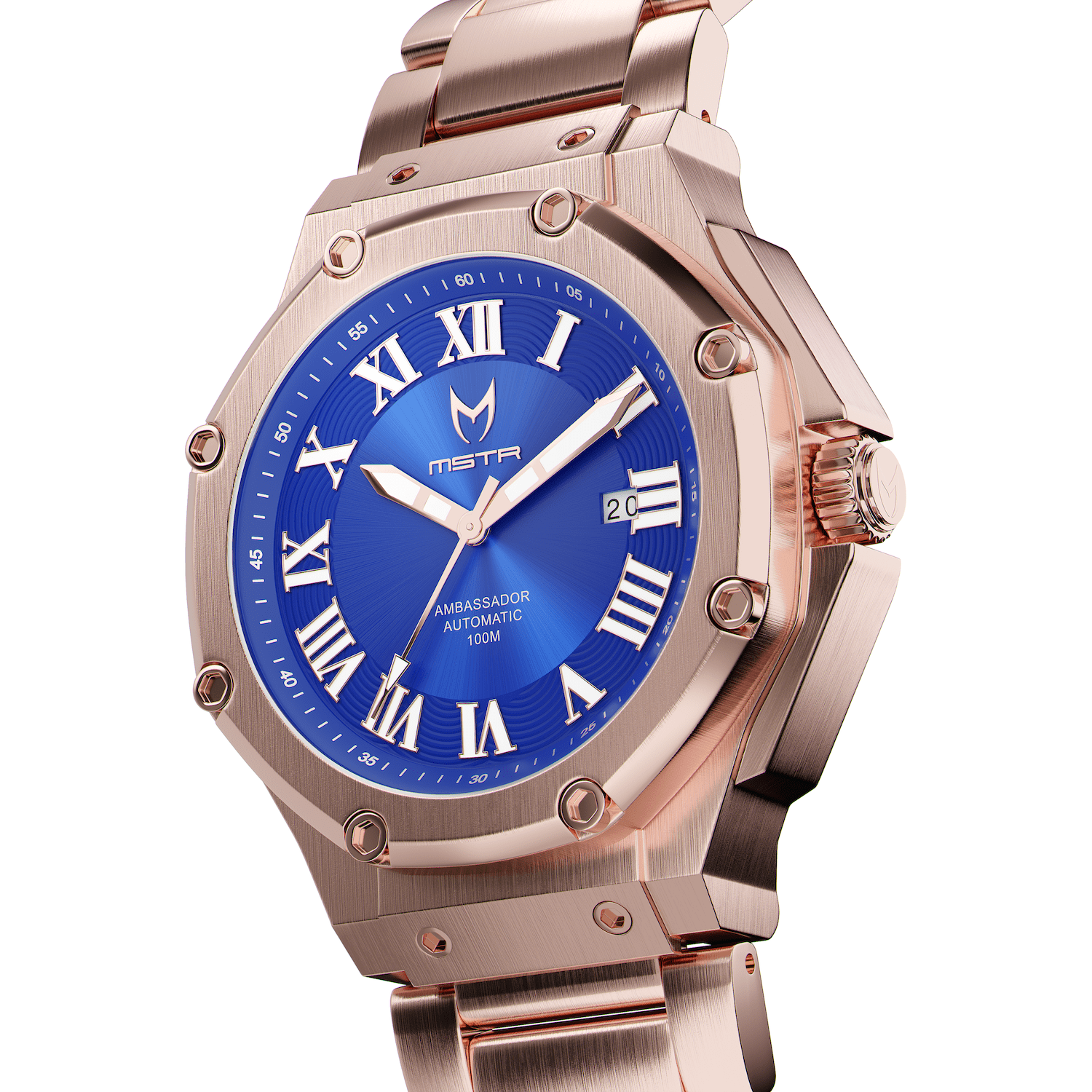Automatic - Rose Gold & Blue