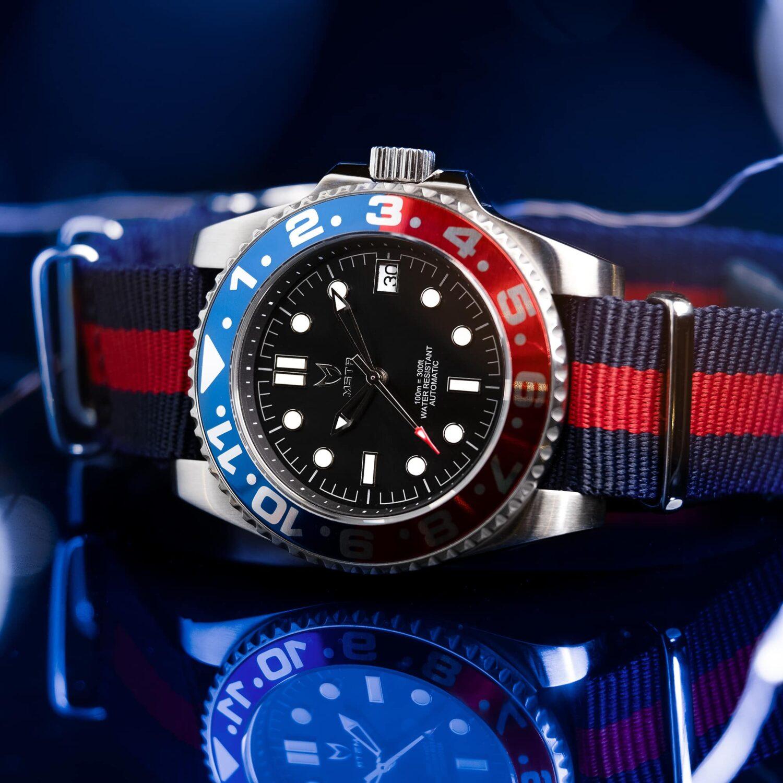 Blue & Red - Nato Strap