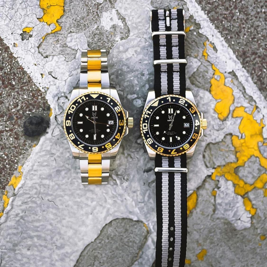 Black & Gold - Nato Strap