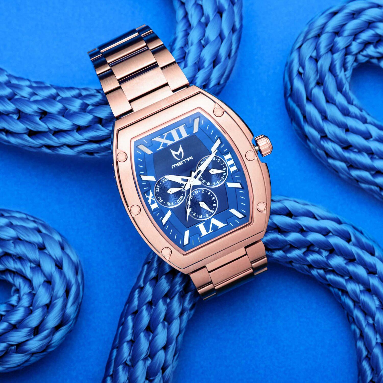 Rose Gold & Blue